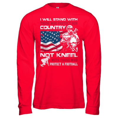 I Stand For The American Flag I Don't Kneel Football T-Shirt & Hoodie | Teecentury.com
