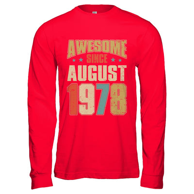Vintage Retro Awesome Since August 1978 42th Birthday T-Shirt & Hoodie | Teecentury.com