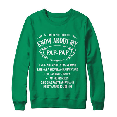 5 Things You Should Know About My Pap-Pap Granddaughter T-Shirt & Sweatshirt | Teecentury.com