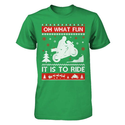 Motorbike Sweater Christmas Oh What Fun It Is To Ride T-Shirt & Hoodie | Teecentury.com