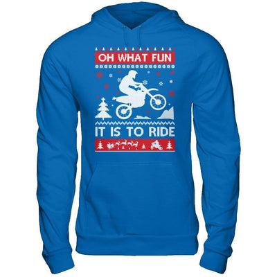 Motocross Sweater Christmas Oh What Fun It Is To Ride T-Shirt & Hoodie | Teecentury.com