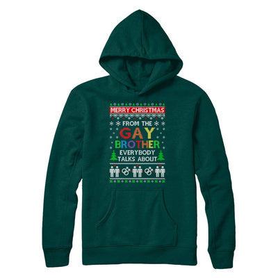 LGBT Merry Christmas From Gay Brother Ugly Christmas Sweater T-Shirt & Sweatshirt | Teecentury.com