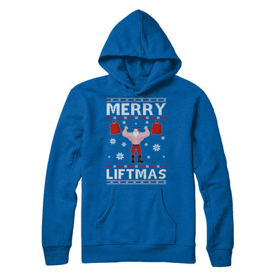 Christmas Merry Liftmas Santa Fitness Gym Ugly Sweater T-Shirt & Sweatshirt | Teecentury.com