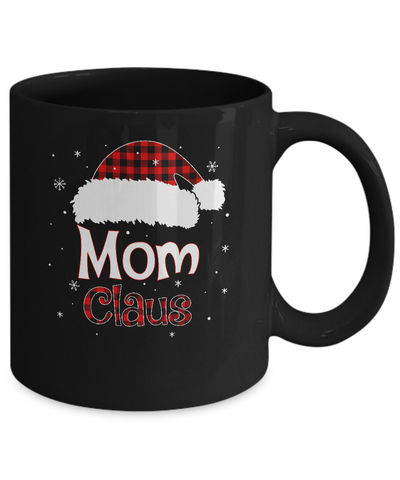 Santa Mom Claus Red Plaid Family Pajamas Christmas Gift Mug Coffee Mug | Teecentury.com