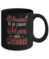 Red Buffalo Plaid Blessed To Be Called Mom And Granny Mug Coffee Mug | Teecentury.com