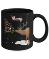 Couples Sick Reindeer Funny Ugly Merry Christmas Sweater Mug Coffee Mug | Teecentury.com