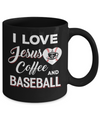I Love Jesus Coffee & Baseball Mug Coffee Mug | Teecentury.com