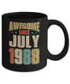 Vintage Retro Awesome Since July 1988 32th Birthday Coffee Mug | Teecentury.com
