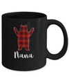Red Nana Bear Buffalo Plaid Family Christmas Pajamas Mug Coffee Mug | Teecentury.com