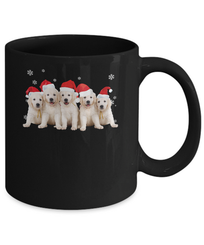 Funny Golden Retriever Puppies Christmas Dog Gift Mug Coffee Mug | Teecentury.com
