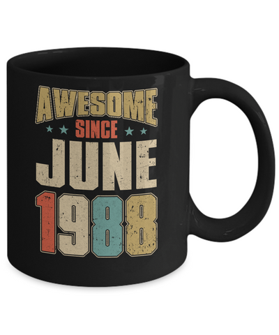 Vintage Retro Awesome Since June 1988 32th Birthday Coffee Mug | Teecentury.com