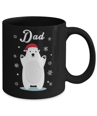 Dad Bear Christmas Santa Pajamas Mug Coffee Mug | Teecentury.com