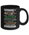 Grandpa You're My Favorite Dinosaur T-Rex Fathers Day Mug Coffee Mug | Teecentury.com
