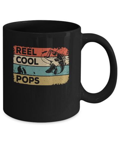 Vintage Reel Cool Pops Fish Fishing Fathers Day Mug Coffee Mug | Teecentury.com