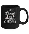 I Like Llamas And Maybe 3 People Mug Coffee Mug | Teecentury.com