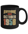 Vintage Retro Awesome Since October 1958 62th Birthday Coffee Mug | Teecentury.com