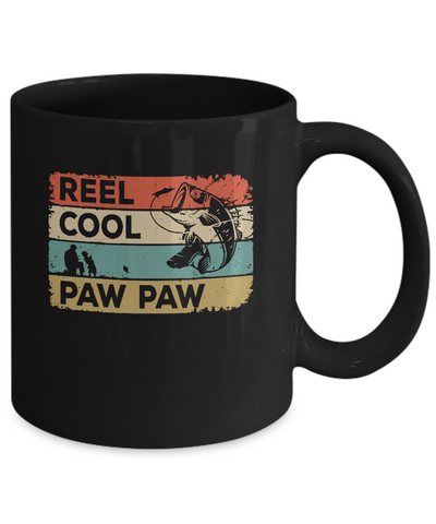 Vintage Reel Cool Paw Paw Fish Fishing Fathers Day Mug Coffee Mug | Teecentury.com