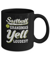 Softball Grandmas Yell Loudest Mug Coffee Mug | Teecentury.com