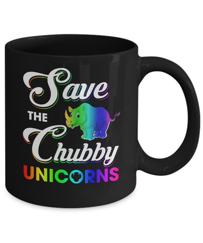 Save The Chubby Unicorns Rhino Mug Coffee Mug | Teecentury.com