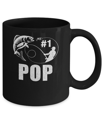 #1 Pop Fishing Fisherman Best Fathers Day Gift Mug Coffee Mug | Teecentury.com