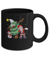 Dabbing Santa Through The Snow Mug Coffee Mug | Teecentury.com