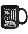 Veteran Thank You Veterans American Flag Mug Coffee Mug | Teecentury.com