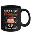 Baby's 1St Christmas On The Inside Pregnant Mug Coffee Mug | Teecentury.com