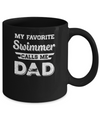 Swimming My Favorite Swimmer Call Me Dad Fathers Day Mug Coffee Mug | Teecentury.com