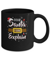 Dear Santa I Can Explain Funny Christmas Gifts Mug Coffee Mug | Teecentury.com