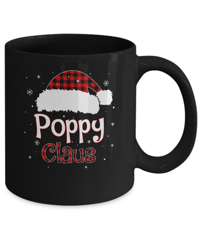 Santa Poppy Claus Red Plaid Family Pajamas Christmas Gift Mug Coffee Mug | Teecentury.com