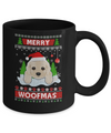 Golden Retriever Merry Woofmas Ugly Christmas Sweater Mug Coffee Mug | Teecentury.com
