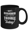 My Grandkid And I Got In Trouble Today Papa Grandma Mug Coffee Mug | Teecentury.com