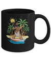 Summer Vacation Dabbing German Shepherd Surfing Surfboard Gift Mug Coffee Mug | Teecentury.com