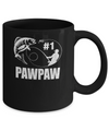 #1 PawPaw Fishing Fisherman Best Fathers Day Gift Mug Coffee Mug | Teecentury.com