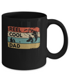 Vintage Reel Cool Dad Fish Fishing Fathers Day Mug Coffee Mug | Teecentury.com