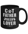 Cat Father Beer Lover Best Cat Dad Fathers Day Mug Coffee Mug | Teecentury.com