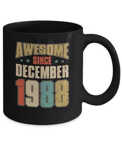 Vintage Retro Awesome Since December 1988 32th Birthday Coffee Mug | Teecentury.com