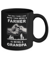 Love More Than Farmer Being A Grandpa Fathers Day Mug Coffee Mug | Teecentury.com