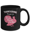 Thanksgiving Thankful For Family Friends Fat Pants Turkey Mug Coffee Mug | Teecentury.com