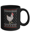 Pajamas Chicken With Santa Hat Ugly Christmas Sweater Mug Coffee Mug | Teecentury.com