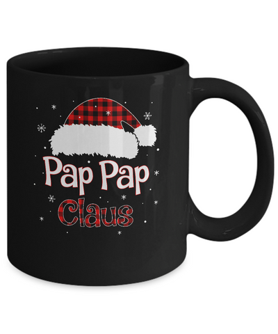 Santa Pap Pap Claus Red Plaid Family Pajamas Christmas Gift Mug Coffee Mug | Teecentury.com