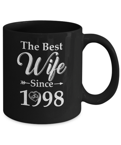 22th Married Together Anniversary Since 1998 Wife Husband Coffee Mug | Teecentury.com