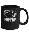 #1 Pap Pap Fishing Fisherman Best Fathers Day Gift Mug Coffee Mug | Teecentury.com