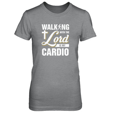 Walking With The Lord Is My Cardio T-Shirt & Tank Top | Teecentury.com