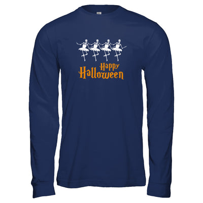 Ballet Skeleton Happy Halloween T-Shirt & Tank Top | Teecentury.com