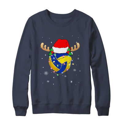 Santa Hat Volleyball Reindeer Christmas Gifts T-Shirt & Sweatshirt | Teecentury.com