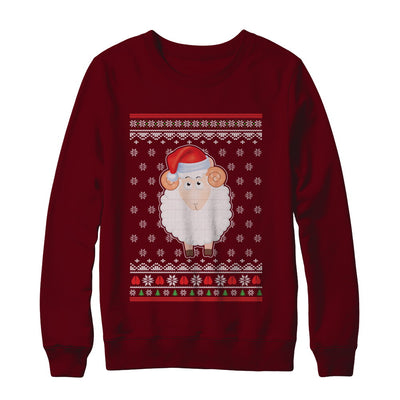 Pajamas Lamb Sheep Santa Hat Ugly Christmas Sweater T-Shirt & Sweatshirt | Teecentury.com