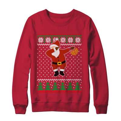Dabbing Santa Volleyball Ugly Sweater Christmas T-Shirt & Sweatshirt | Teecentury.com