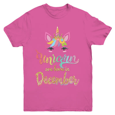 Cute Unicorns Are Born In December Birthday Gift Youth Youth Shirt | Teecentury.com