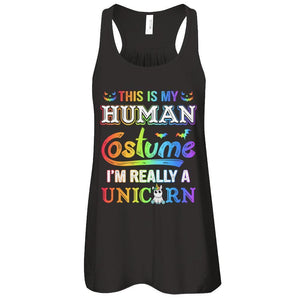 Halloween This Is My Human Costume I'm Really A Unicorn T-Shirt & Tank Top | Teecentury.com